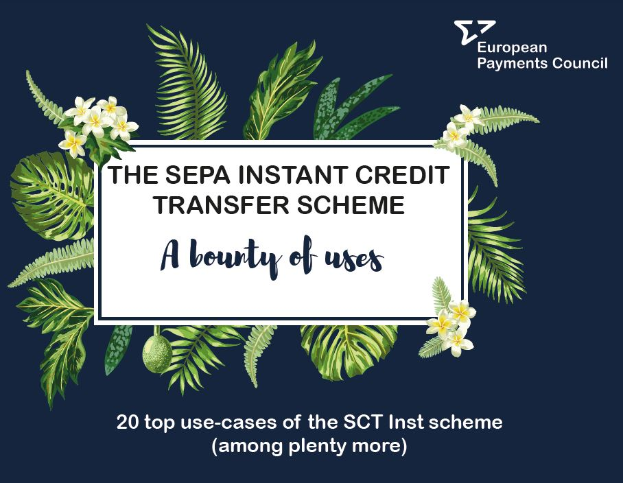 Infographic created by the EPC on the top uses of the SEPA Instant Credit Transfer scheme